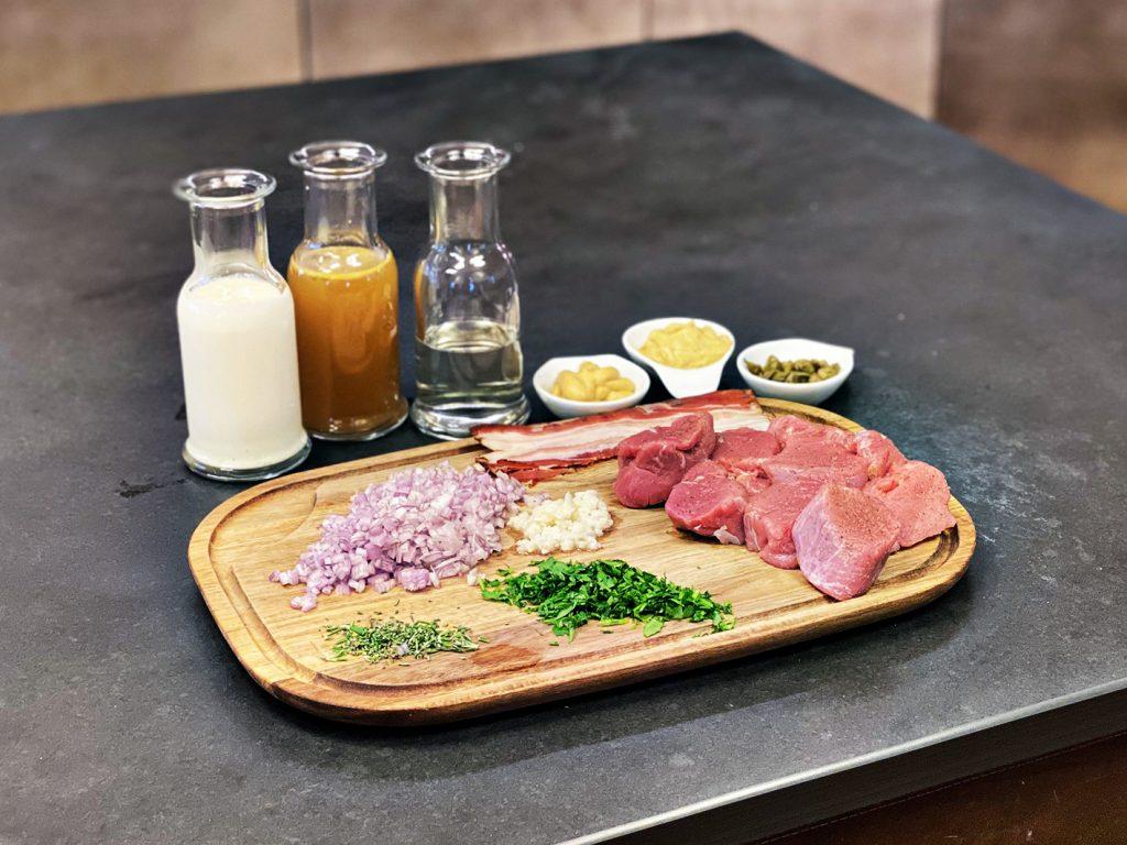 Schweinefilet in Senf-Sauce