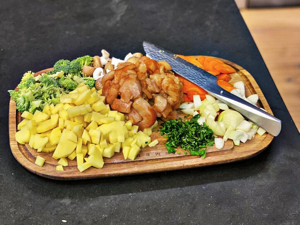 Gemüse-Hühnchen-Pfanne