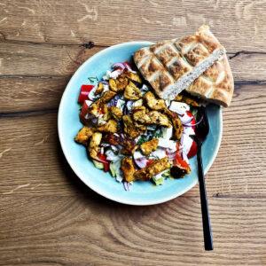 Gyros-Salat-Bowl